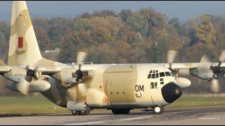 THREE Lockheed C-130 Hercules - Moroccan Air Force - Landing at Bern