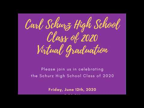 Schurz High School 2020 Virtual Graduation Invitation