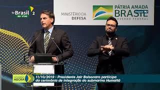Presidente Bolsonaro participa da Cerimônia de Integração do Submarino Humaitá