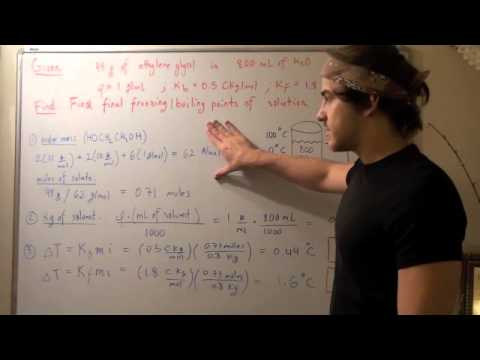 Boiling Point Elevation And Freezing Point Depression Example