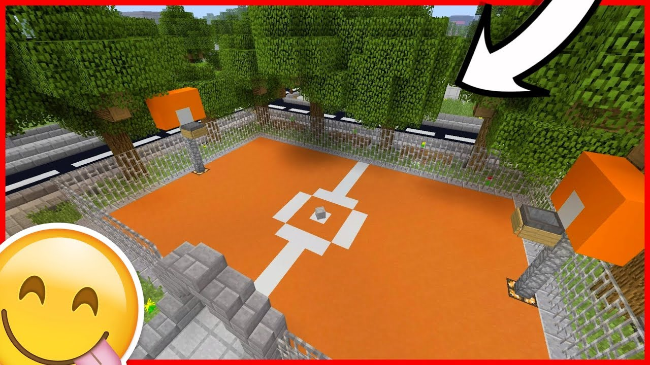 Comment Fabriquer Un Terrain De Basket tuto : contruction d'un terrain de basket-ball dans minecraft !