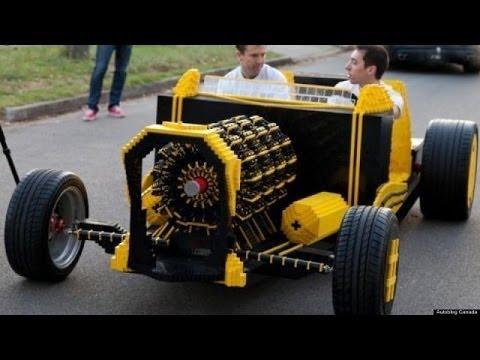 life size lego car built in melbourne youtube. Black Bedroom Furniture Sets. Home Design Ideas