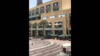 Downtown Dubai at Fortnum & Mason with great views from balcony 06/05/15