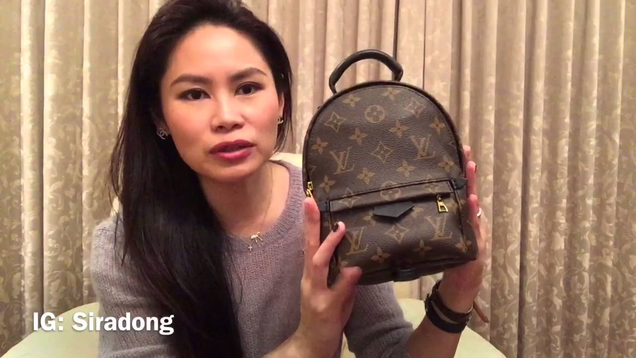 301ca0c93523 Review LV Palm Springs backpack mini - YouTube
