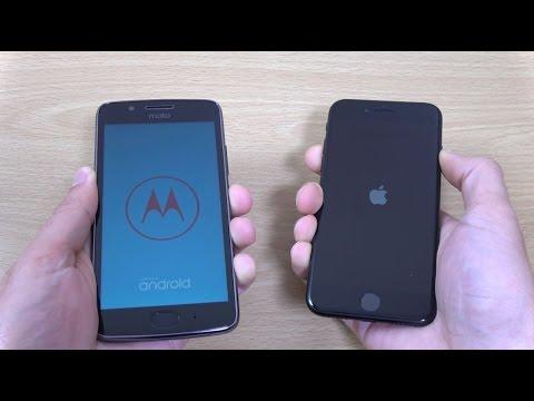 Moto G5 vs iPhone 7 - Speed & Camera Test!