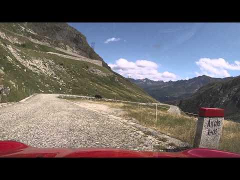 Gotthard Pass (Passo San Gottardo) to Airolo via Tremola - Car Drive 1080p
