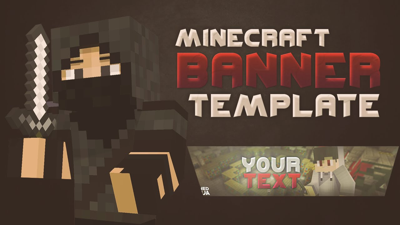 minecraft banner template for photoshop c4d by nitrofx youtube. Black Bedroom Furniture Sets. Home Design Ideas