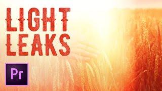 How to Create a Light Leak Transition in Premiere Pro - 4k Light Leaks | Educational