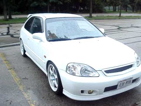 My 39 00 honda civic white ek9 youtube for 2000 honda civic rear window visor