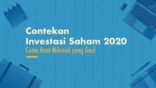Contekan Investasi Saham 2020, Cuma Buat Milenial yang Gaul