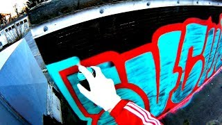 GRAFFITI - Throw Up Bombing - Daytime Rooftop - Raw Footage