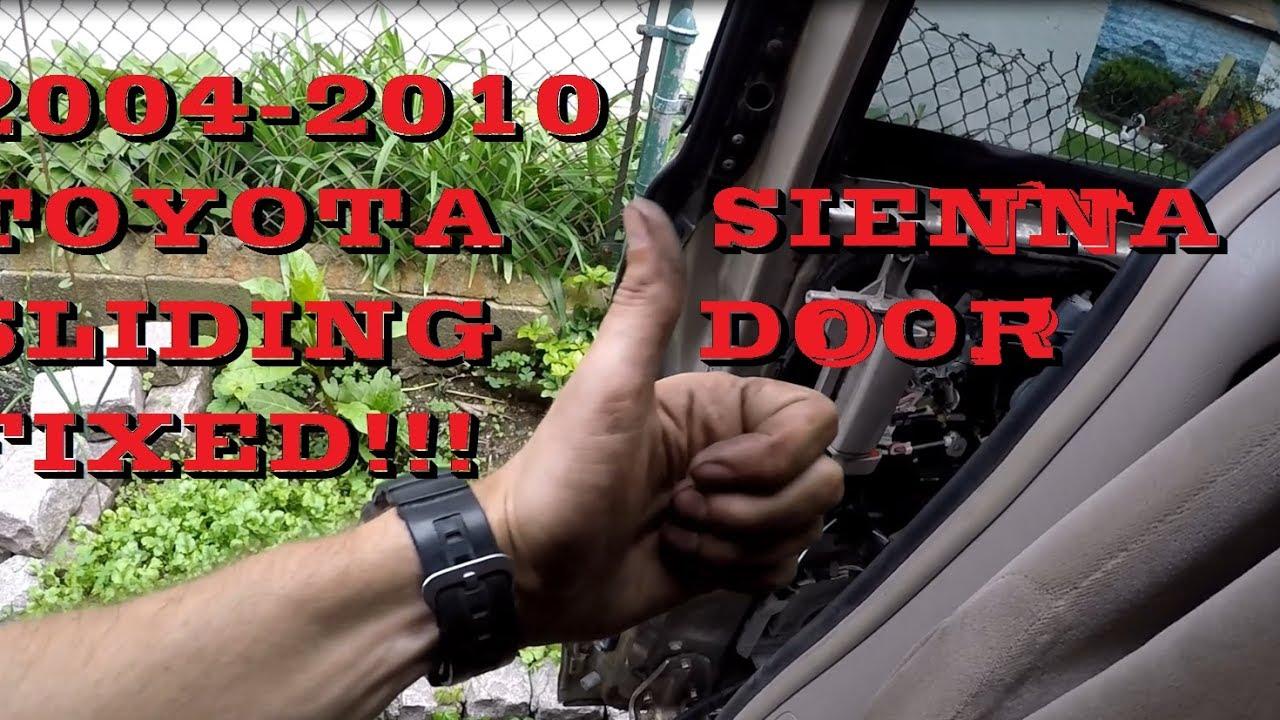 hight resolution of fixed toyota sienna power sliding door problem