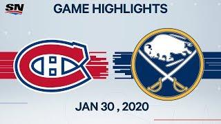 montreal Canadiens vs Buffalo Sabres Jan 30, 2020 HIGHLIGHTS HD