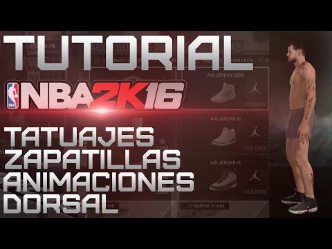 NBA 2K16 TUTORIAL - Tatuajes, Accesorios, Zapatillas...