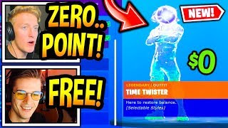 "Streamers React To *NEW* FREE ""ZERO POINT"" SKIN In Fortnite! (EXCLUSIVE) Fortnite Moments"