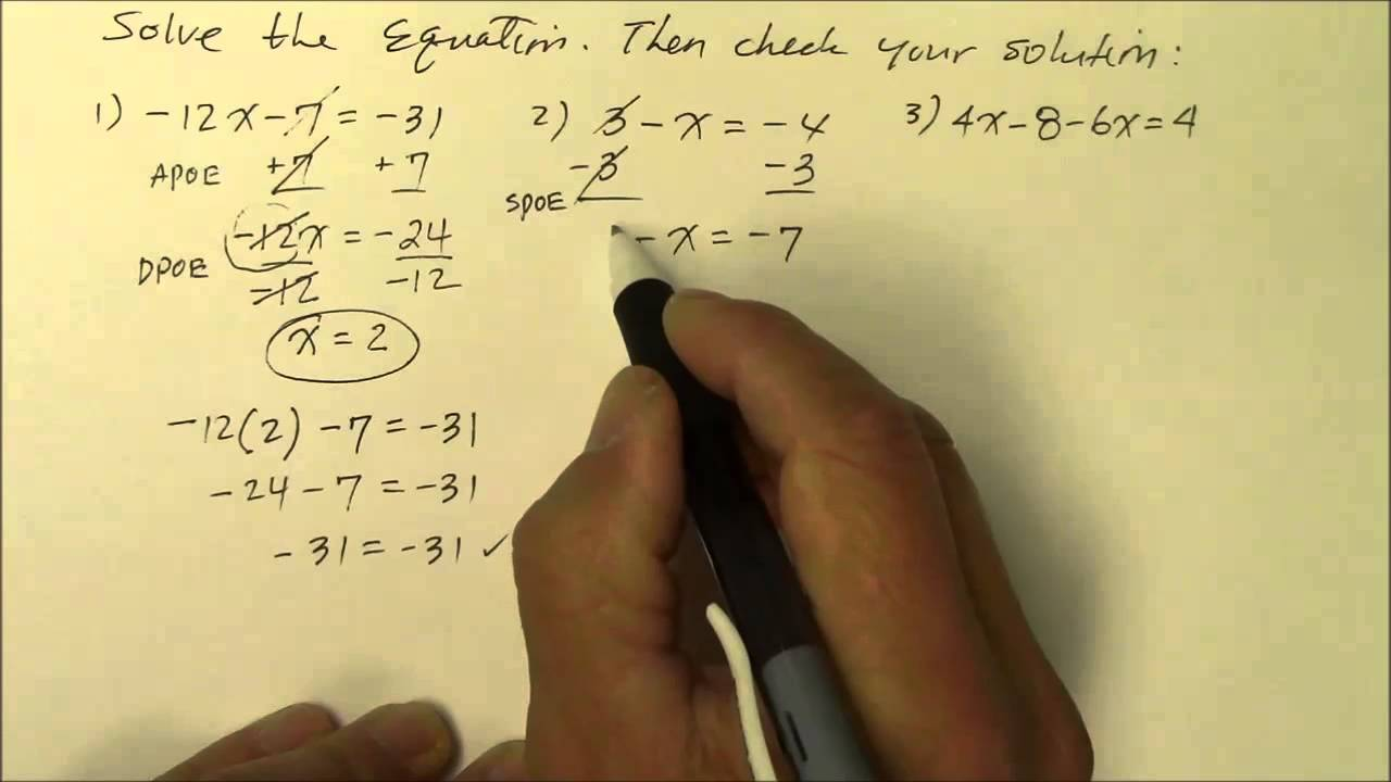508GM Solve Multi-Step Equations; Negative Coefficients