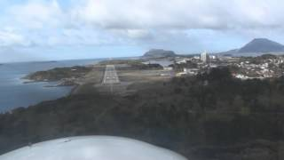 Florø, Norway - Approach and Landing Runway 25
