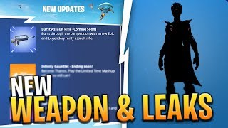 'NOUVEAU' BURST RIFLE COMING TOMORROW - NEW SKINS, PICKAXES ET ITEM LEAKS! - Fortnite: Bataille Royale