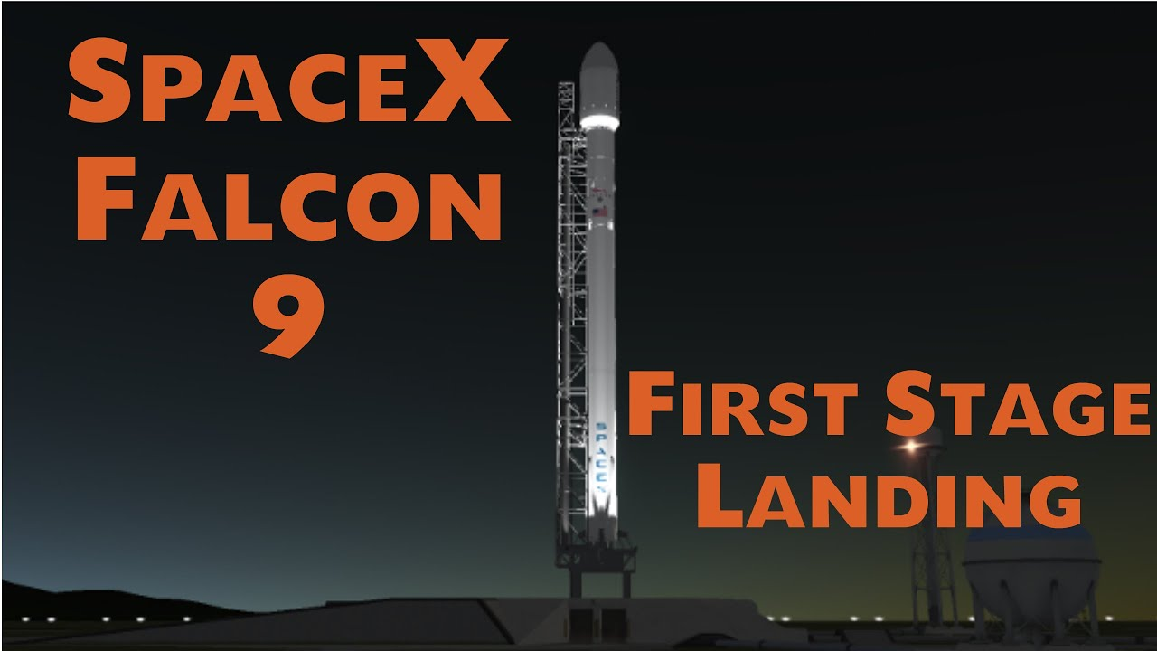 kerbal space program spacex falcon 9 stage one landing