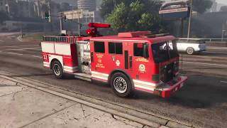GTA 5 -  Casual First Person Fire Truck Drive! (Driving Like A Normal Person )