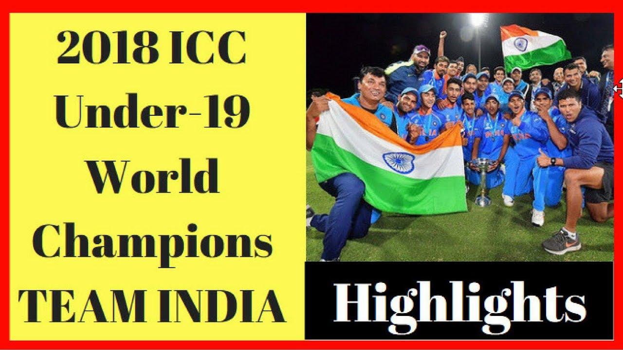 ICC U-19 Cricket World Cup 2018 HIGHLIGHTS : Team India