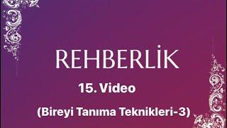 Salih YILDIRIM -REHBERLİK- 15. Ders