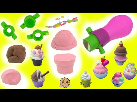 Make Poppit Clay Ice Cream - Do It Yourself Maker Craft Set with Shoppies Dolls + MLP