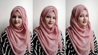 Everyday Formal Hijab Style  with crinkle Hijab (2020)||Step by Step|| Tahmina Shova❤