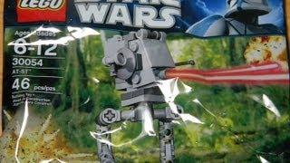 Star Wars Mini Building Set 30054 AT-ST HD Review | Www.flyguy.net