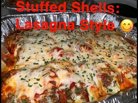 DELICIOUS STUFFED SHELLS | Lasagna Style