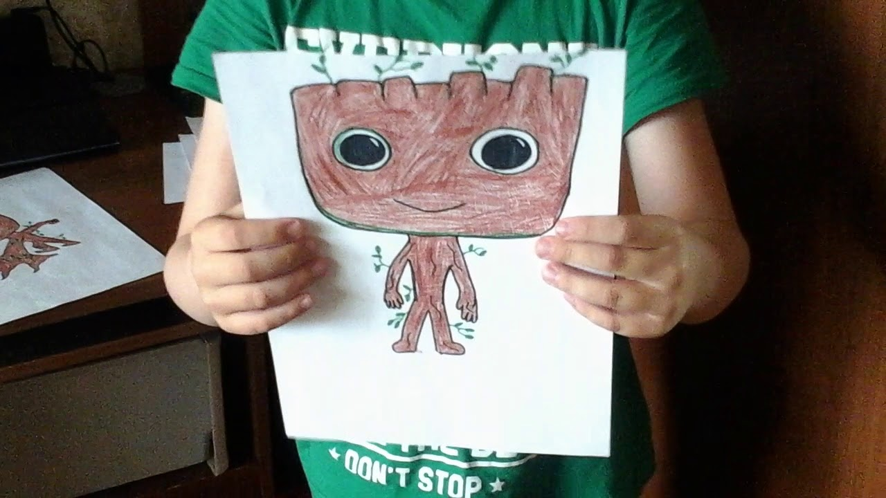 Нарисованый Грут и пластилиновый Губка Боб и его друзья ...