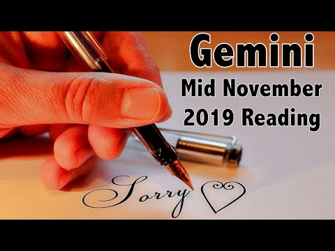 Gemini! Someone Wants To Apologize To You! Mid November 2019 Reading