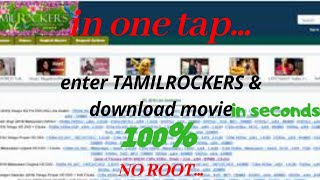 How to download movies from tamilrockers 2019