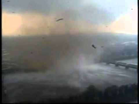 Massive Tornado Raw Power Sucks Up Water, Springfield, Massachusetts Connecticut River footage