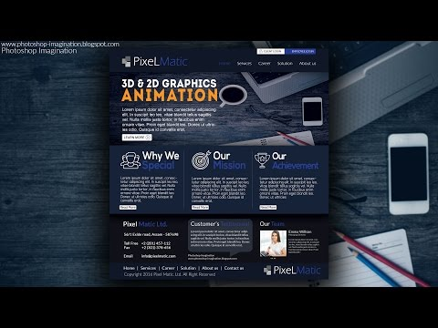 Business website design in photoshop cc