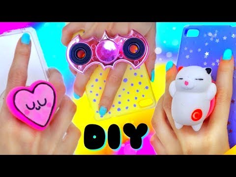 4 DIY POPSOCKETS FOR YOUR PHONE!