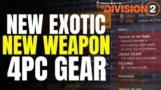 The Division 2 NEWS! NAMED PERFECT TALENTS, NEW EXOTIC, NEW WEAPON u0026 MORE!