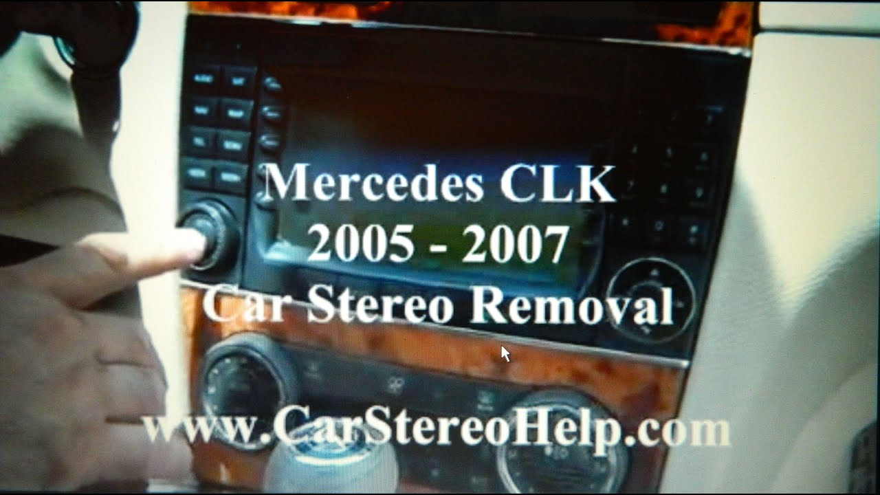 How To Mercedes Clk Bose Stereo Removal 2005 2007 Replace Repair Benz Command Harman Becker Car Stero Wiring Diagram Connector