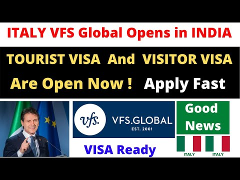ITALY VFS Open In India ! ITALY Tourist Visa And Visitor Visas Are Ready! Study In Italy! Biometrics