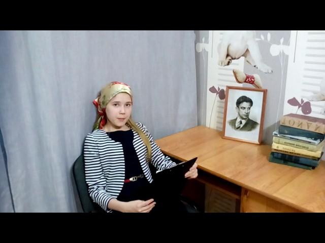 Изображение предпросмотра прочтения – ВикторияКрайнова читает отрывок изпроизведения «История Власа, лентяя илоботряса» В.В.Маяковского