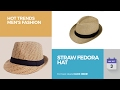 Straw Fedora Hat Hot Trends Men's Fashion