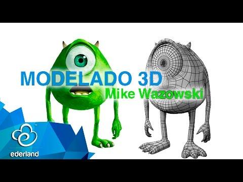 Modelado 3d Mike Wazowski en 3ds MAx #Ederland