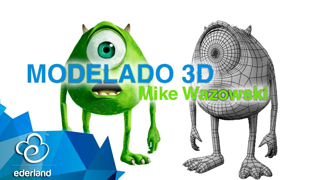 modelado 3d mike wazowski en 3ds max ederland youtube