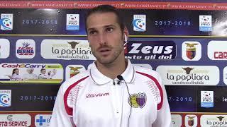 Casertana-Catania 1-0 conferenza Tedeschi (2 settembre 2017 - 2° giornata Serie C)