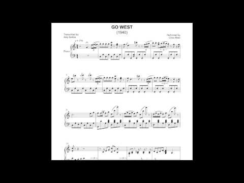 Go West - Chico Marx 1940 (Piano by Aldy Santos)
