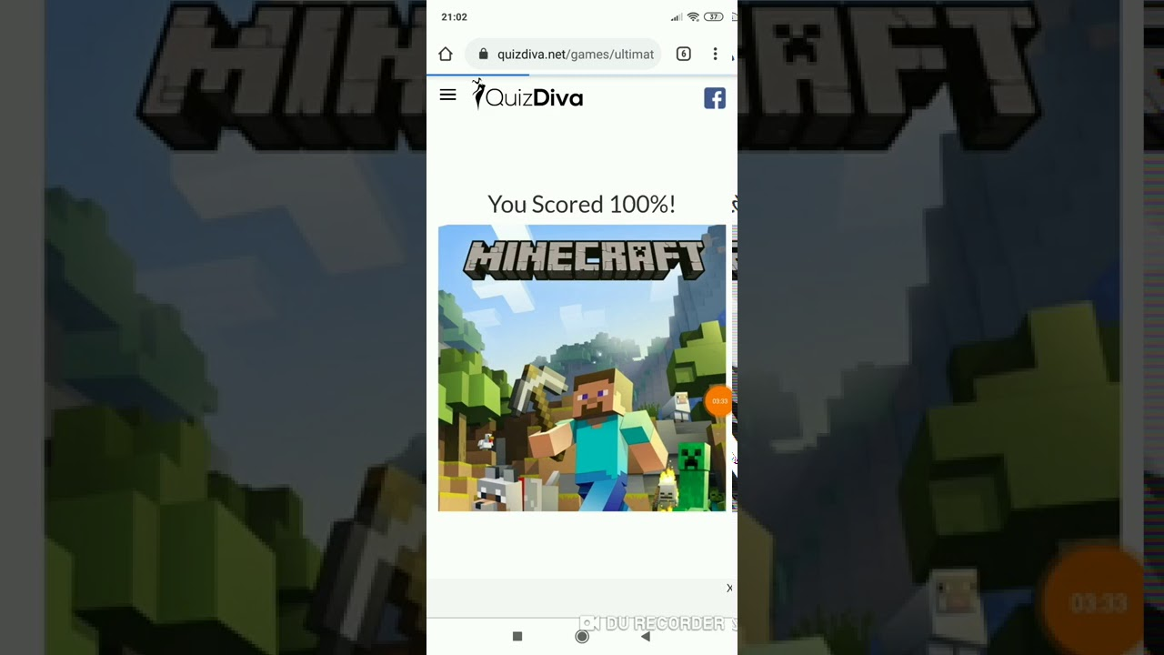 Minecraft Quiz Answers is 11% - YouTube