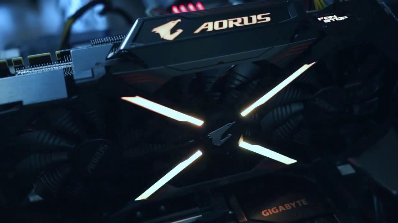 GIGABYTE AORUS GeForce GTX 1080 TI 11G RGB LED Effct