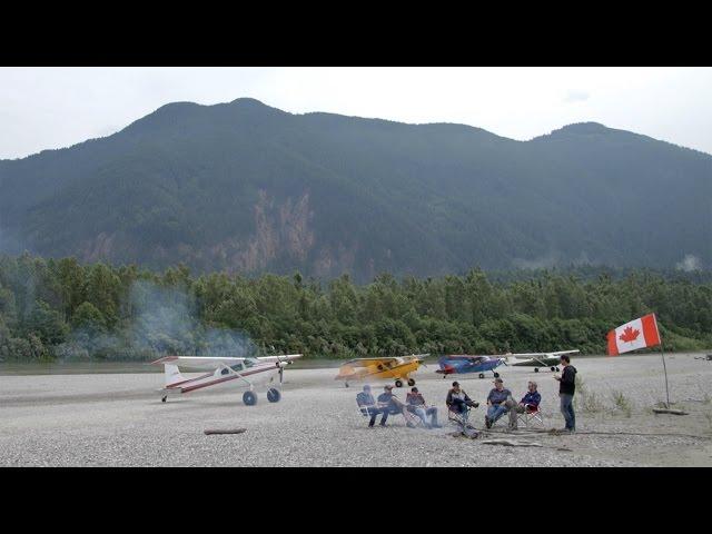 Gravel Bar Landing - Cessna 172, 180, Maule M7, BearHawk - Off Airport Flight VLOG