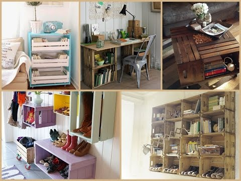 Recycled Wood Crate Projects – DIY Furniture Ideas