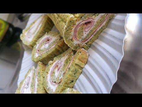 roulé-salé-à-base-de-courgettes,-fourrés-au-fromage-frais-et-jambon-ou-samon.roulé-ww-moelleux